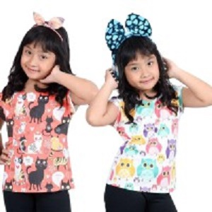 Tampil Ceria Dengan Aneka Pilihan Warna Dan Corak Baju Anak